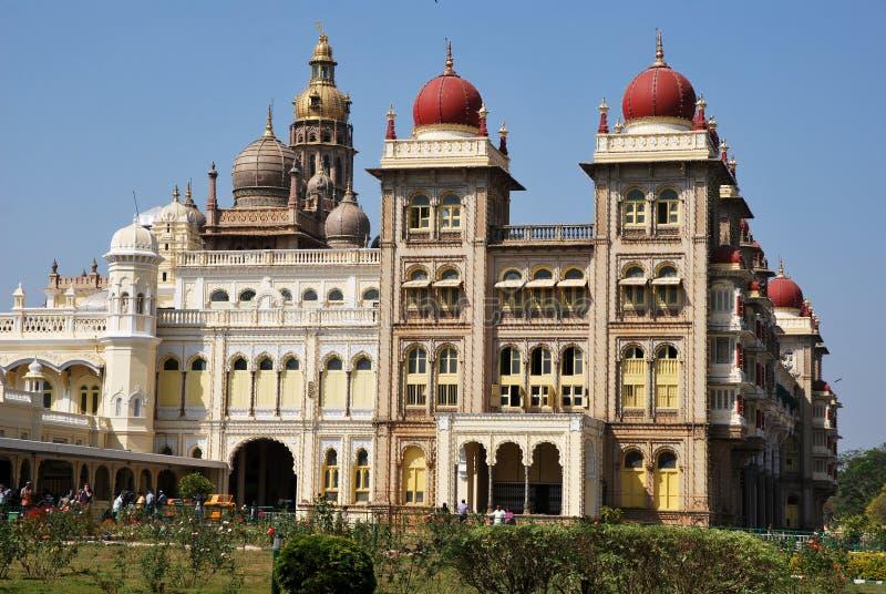 india mysore slott arkivfoton