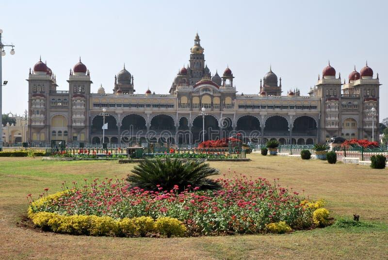 india mysore slott royaltyfri bild