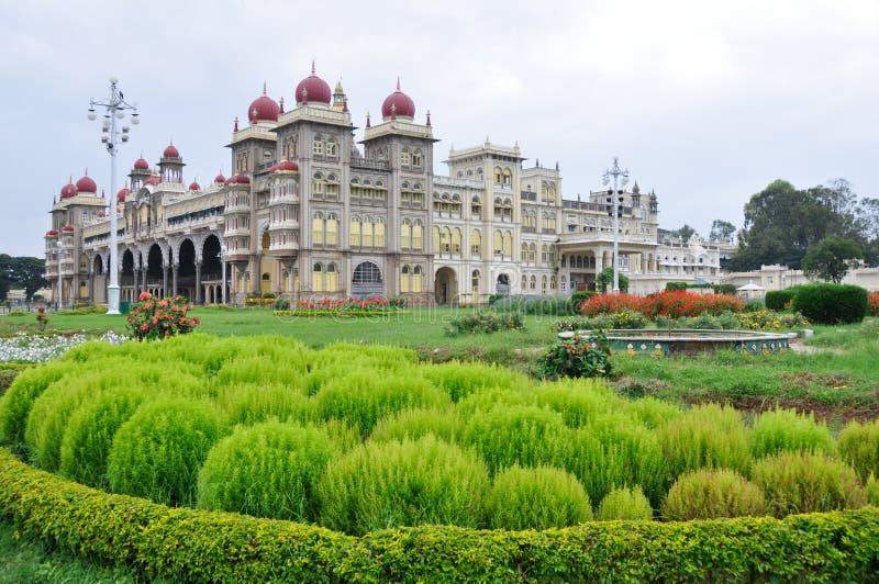 india mysore slott royaltyfria bilder