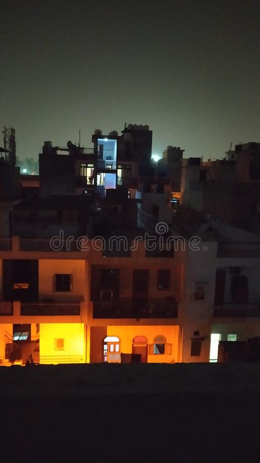 India night picture  and Indian House royalty free stock photo