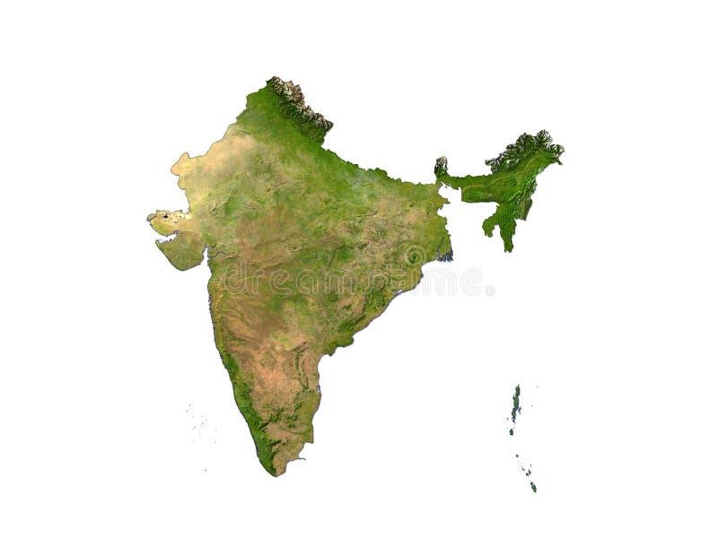 India op Witte Achtergrond vector illustratie