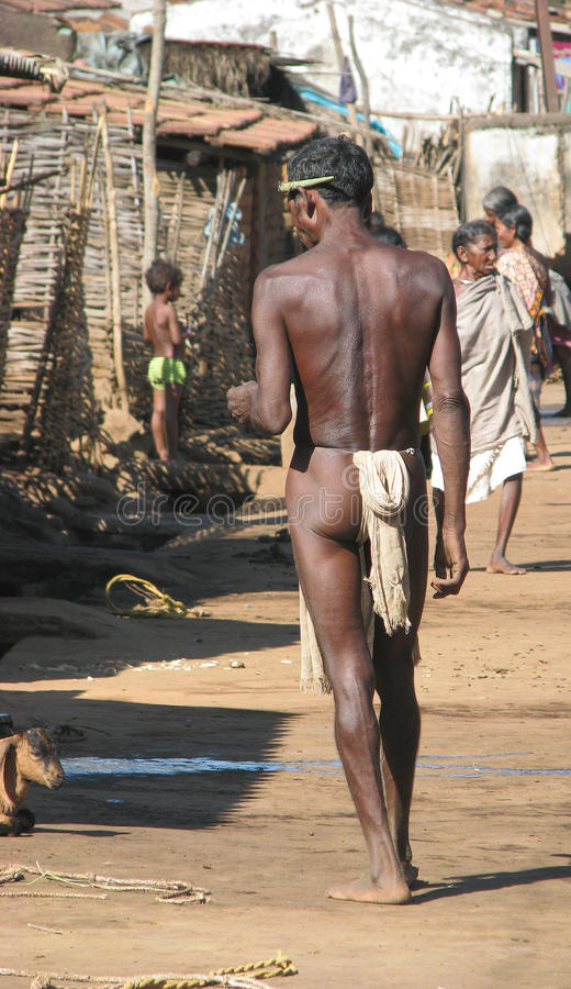 India, Orissa tribal man stock photos