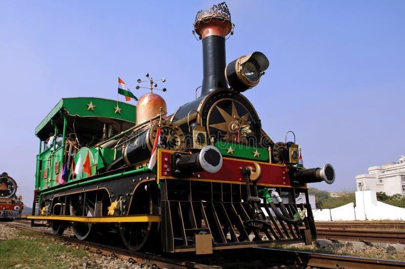 India: oude stoomtrein royalty-vrije stock foto