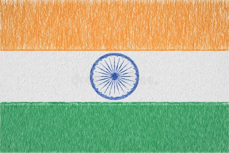 India painted flag stock illustration