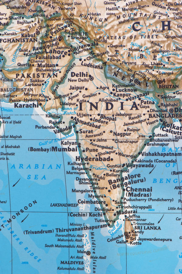India and Pakistan royalty free stock images