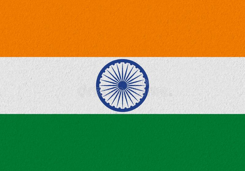 India paper flag. Patriotic background. National flag of India royalty free stock photos