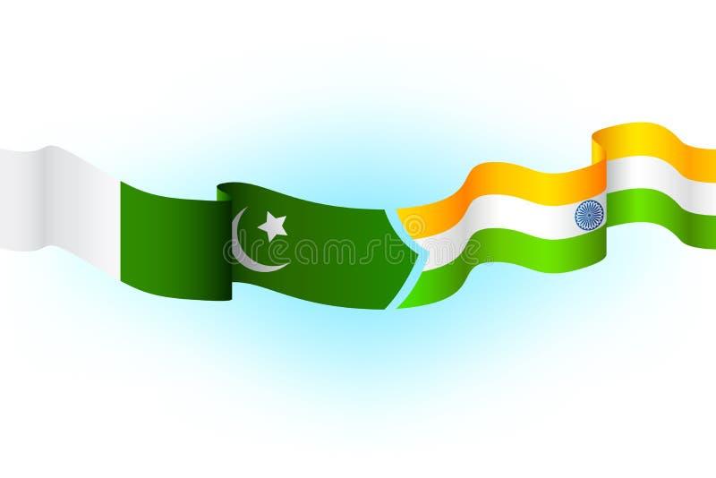 India Paquistão ilustração stock