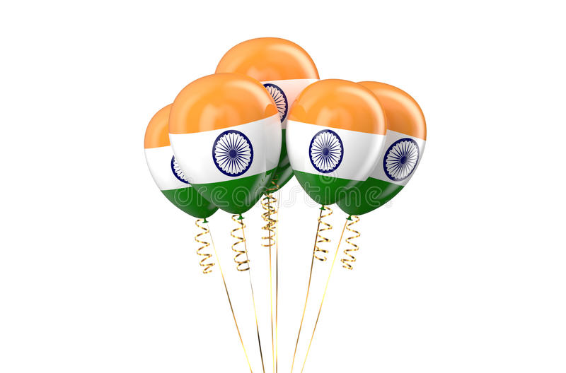 India patriotic balloons holyday concept. India patriotic balloons, holyday concept isolated on white background royalty free illustration