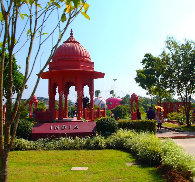 India pavilion stock photography