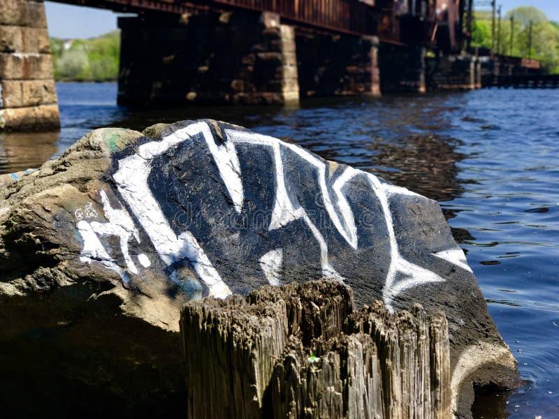 India Point Park. Peaceful bridge background d stock photography