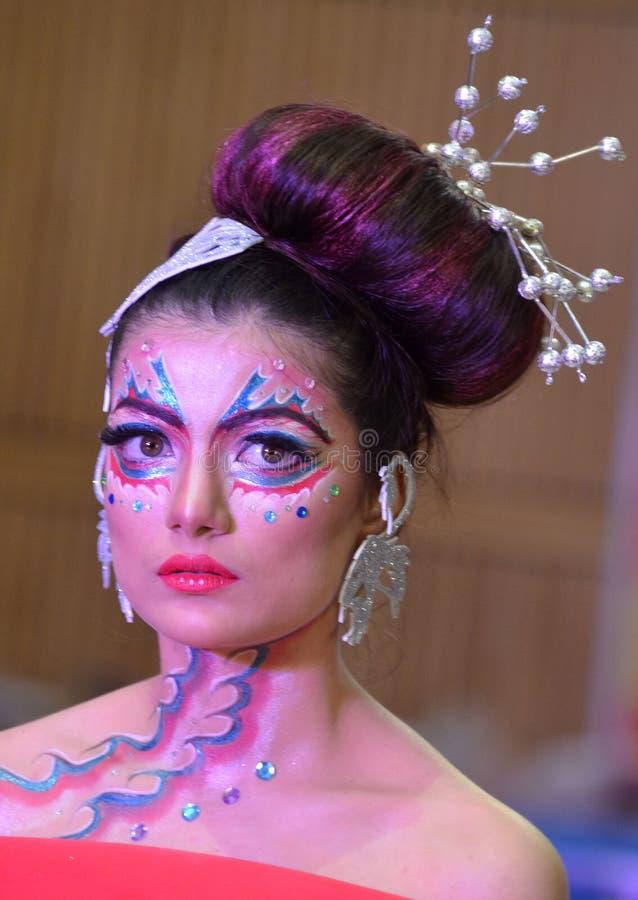 India pokaz mody obraz royalty free