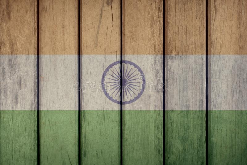 India Flag Wooden Fence. India Politics News Concept: Indian Flag Wooden Fence royalty free stock images