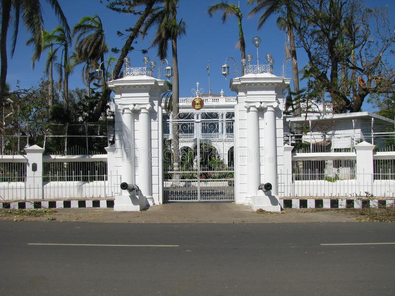 India Pondicherry Huisgouverneur Frans India royalty-vrije stock afbeelding