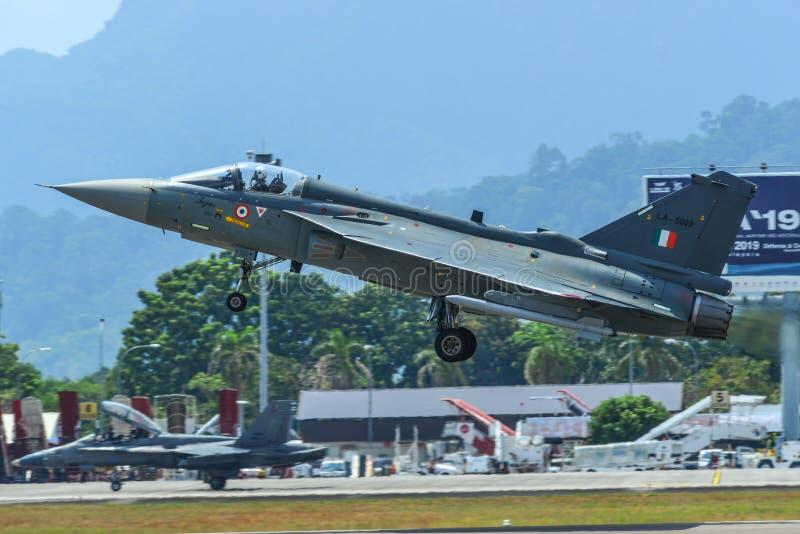 India powietrza pierwszego planu HALA Tejas myśliwiec obrazy royalty free