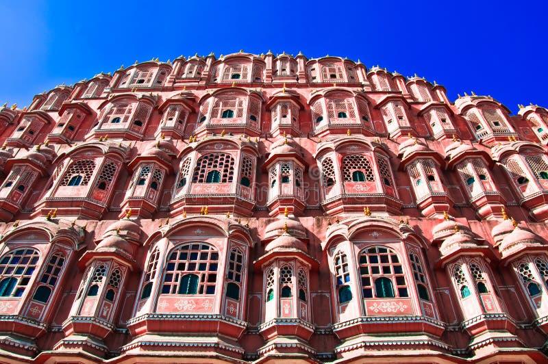 India. Rajasthan, Jaipur, pałac wiatry obraz stock