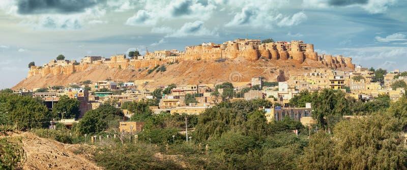 india Rajasthan Jaisalmer fort - sonar Kila Sone Ka Quila, går arkivfoto