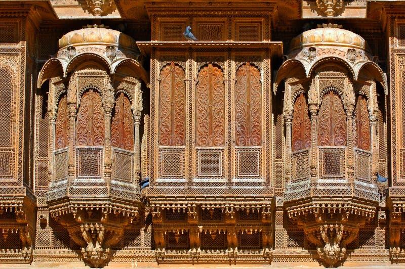 India, Rajasthan, Jaisalmer: Havelihuis van Patwa royalty-vrije stock foto's