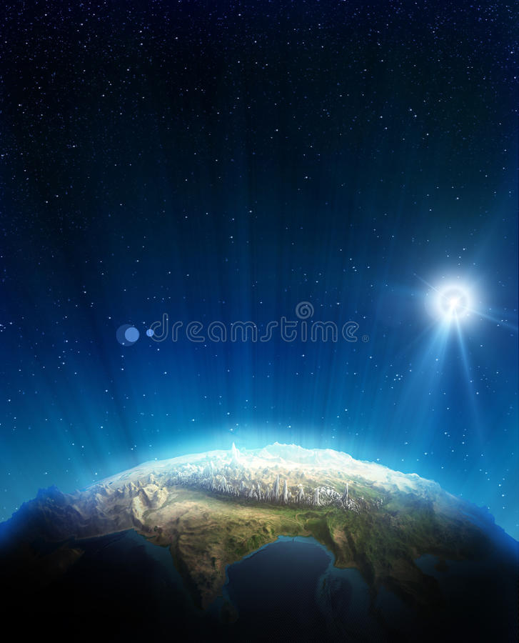 Download India real relief stock illustration. Illustration of luminosity - 26269003
