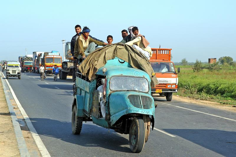 india repubblic transport royaltyfria bilder