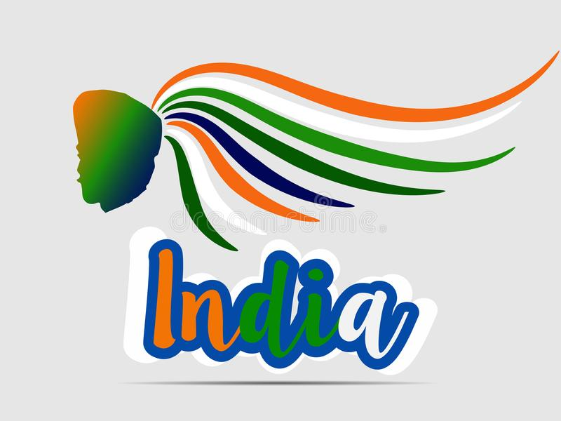 India republic day. EPS 10. national independence day. india flag colors.logo and card vector illustration. vector illustration