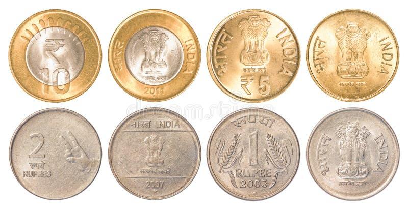India rozprowadza monety zdjęcia royalty free