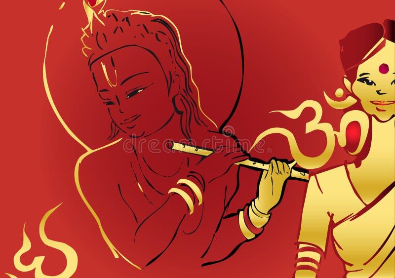 India series - Murali Krishna royalty free illustration