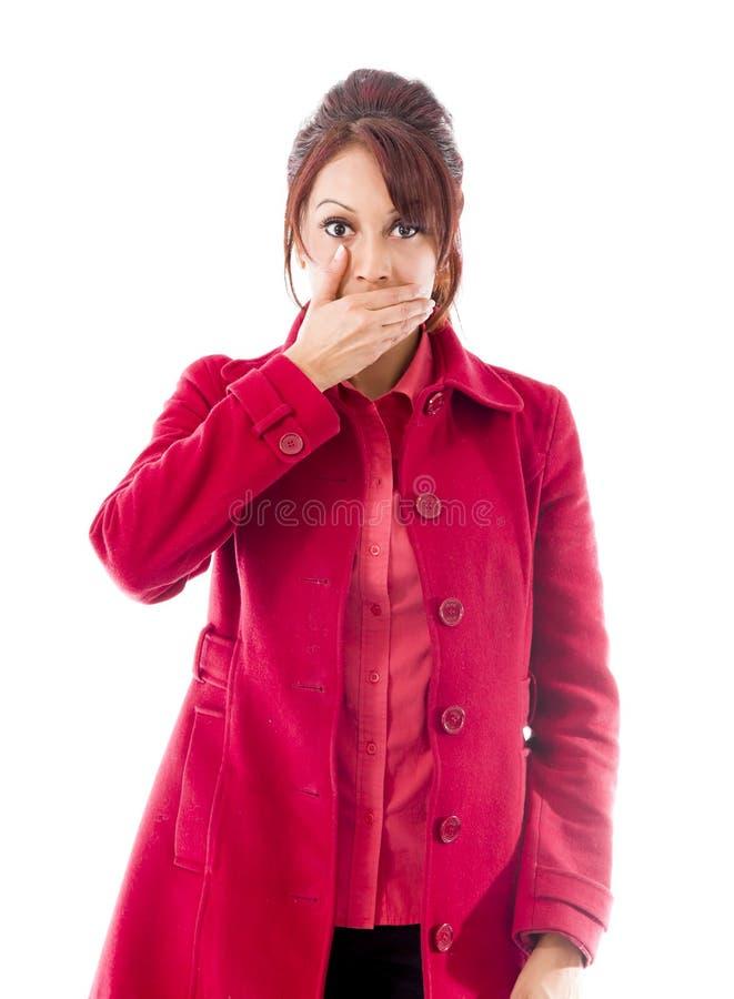 Download India?ska M?oda Kobieta Z Oddawa? Jej Usta Obraz Stock - Obraz złożonej z tylko, przód: 41950439