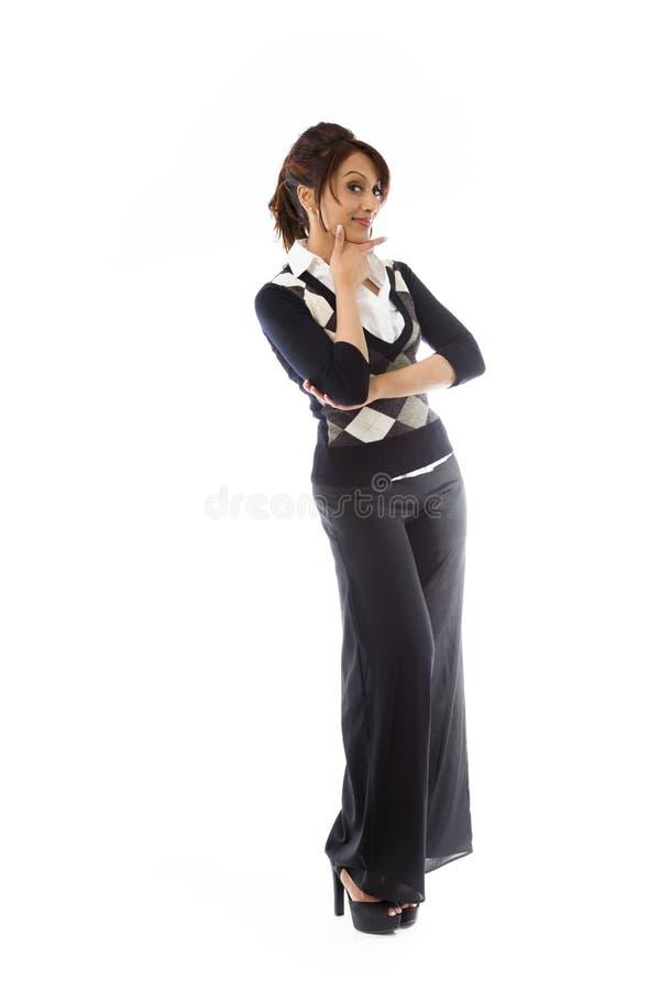 Download India?ska M?odej Kobiety Pozycja Z R?k? Na Podbr Zdjęcie Stock - Obraz złożonej z jeden, potomstwa: 41951048