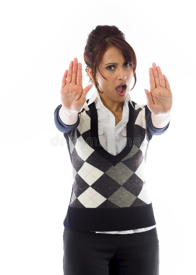 Download India?ski Bizneswoman Robi Przerwie Gestykulowa? I Pokazuje Przerw? Obraz Stock - Obraz złożonej z ręki, nierady: 41950885