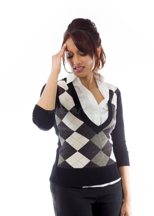 Download India?ski Bizneswomanu Cierpienie Od Migreny Obraz Stock - Obraz złożonej z kapitałka, napięcie: 41950873