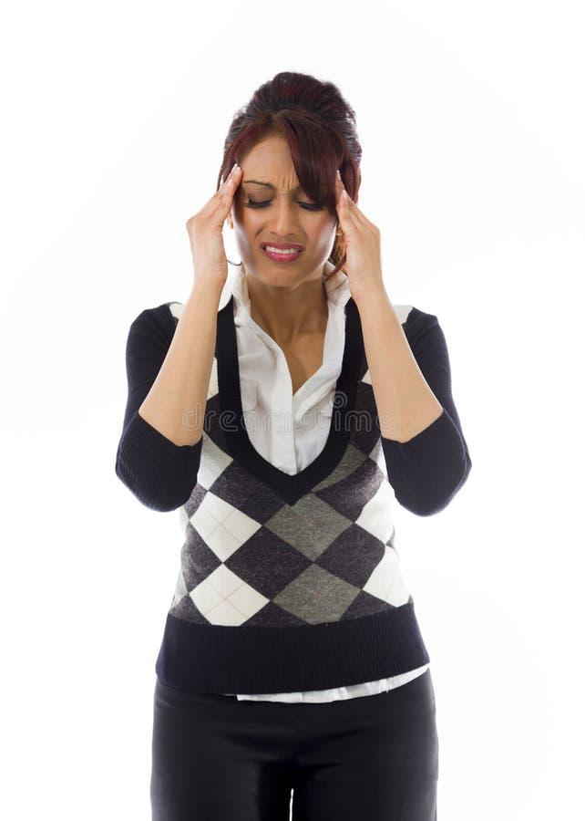 Download India?ski Bizneswomanu Cierpienie Od Migreny Obraz Stock - Obraz złożonej z zmartwiony, kontemplacja: 41950983