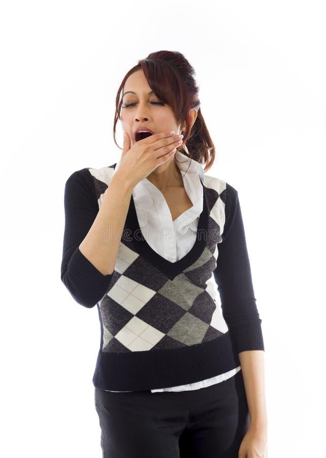 Download India?ski Bizneswomanu Ziewanie Z Oddawa? Usta Obraz Stock - Obraz złożonej z niezrównoważenie, strzał: 41950917