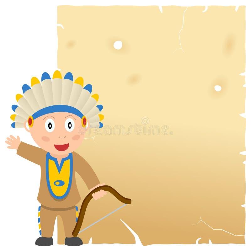 Download Indiański i Stary pergamin ilustracja wektor. Obraz złożonej z dzieciak - 31369439
