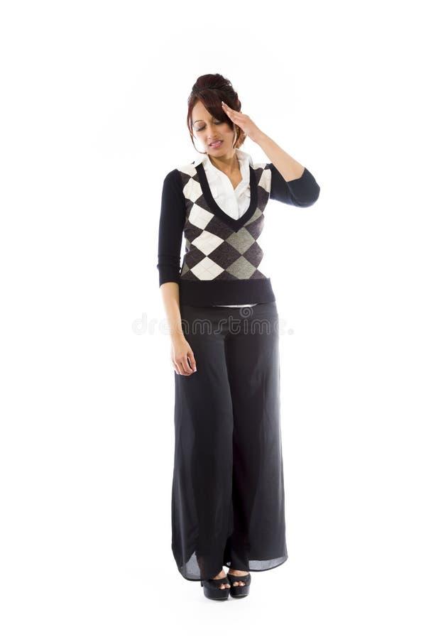 Download India?ski M?odej Kobiety Cierpienie Od Migreny Obraz Stock - Obraz złożonej z długość, tylko: 41951015