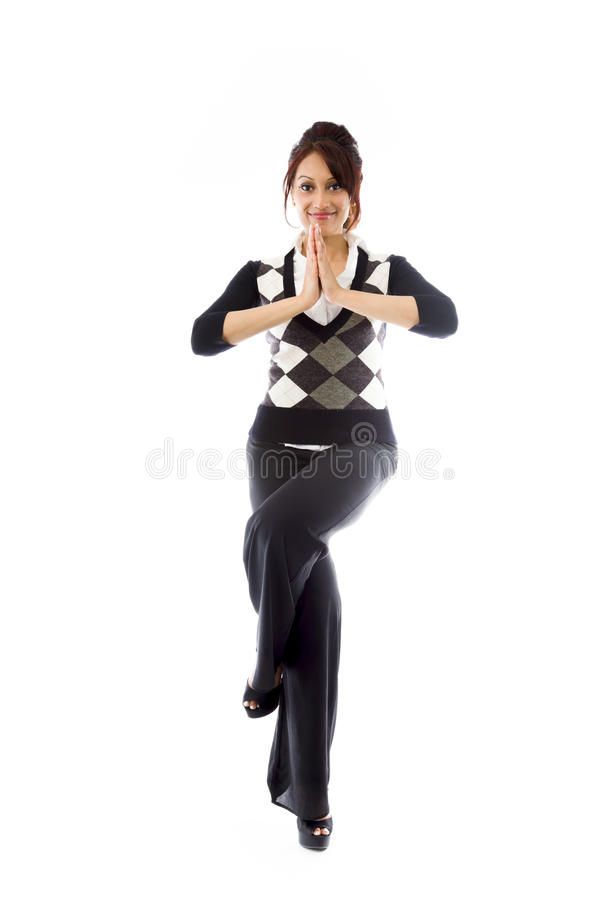 Download India?ski M?odej Kobiety ?wiczy? Zdjęcie Stock - Obraz złożonej z tło, niezrównoważenie: 41951120