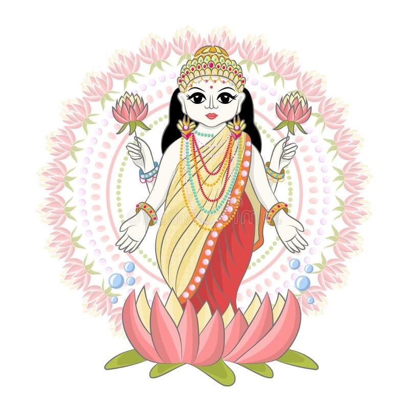 India?skiego b?g hinduism wektorowy godhead bogini Ganesha w India ilustracyjnym ustawiaj?cym azjatykcia godly religia i godlike  royalty ilustracja