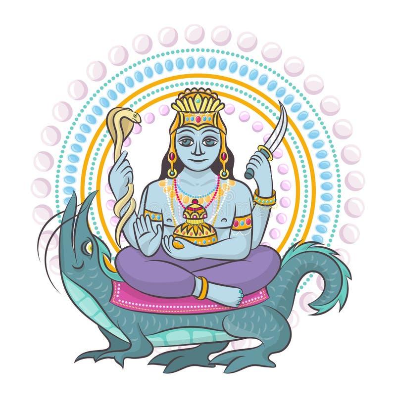 India?skiego b?g hinduism wektorowy godhead bogini Ganesha w India ilustracyjnym ustawiaj?cym azjatykcia godly religia i godlike  ilustracji