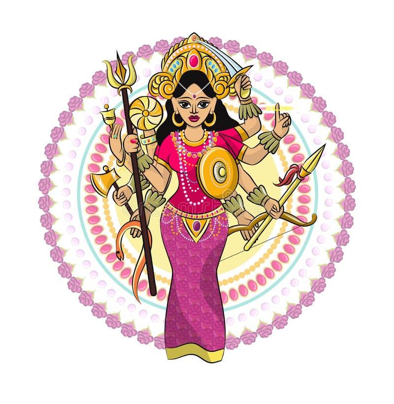 India?skiego b?g hinduism wektorowy godhead bogini Ganesha w India ilustracyjnym ustawiaj?cym azjatykcia godly religia i godlike  ilustracja wektor