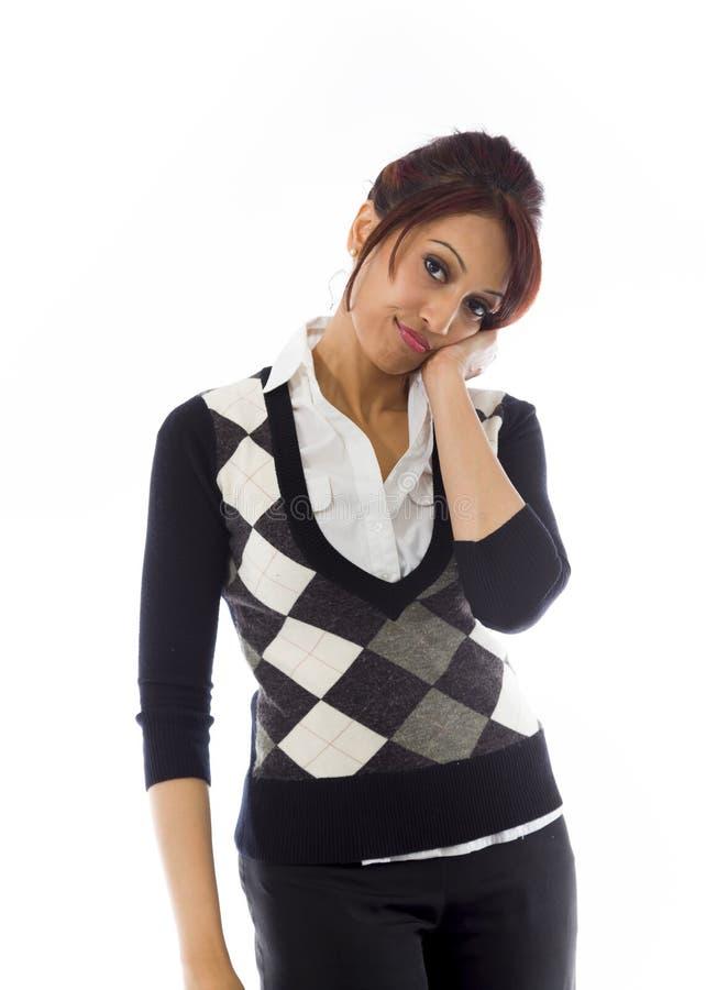 Download India?skiego Bizneswomanu Przygl?daj?cy Sp?czenie Obraz Stock - Obraz złożonej z formalny, piękny: 41950869
