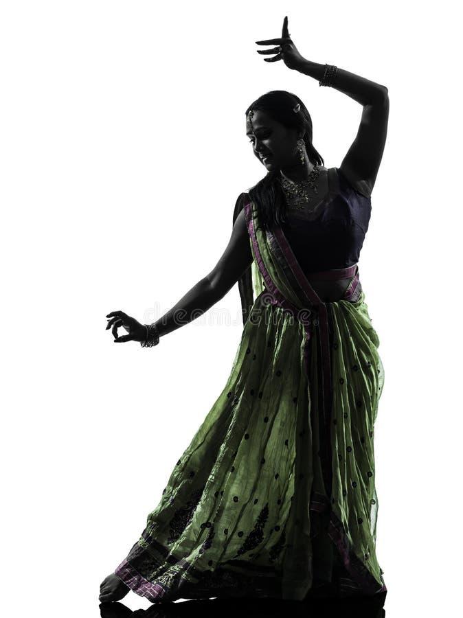 Download Indiańskiego Kobieta Tancerza Dancingowa Sylwetka Zdjęcie Stock - Obraz złożonej z ludzie, hindus: 53780370