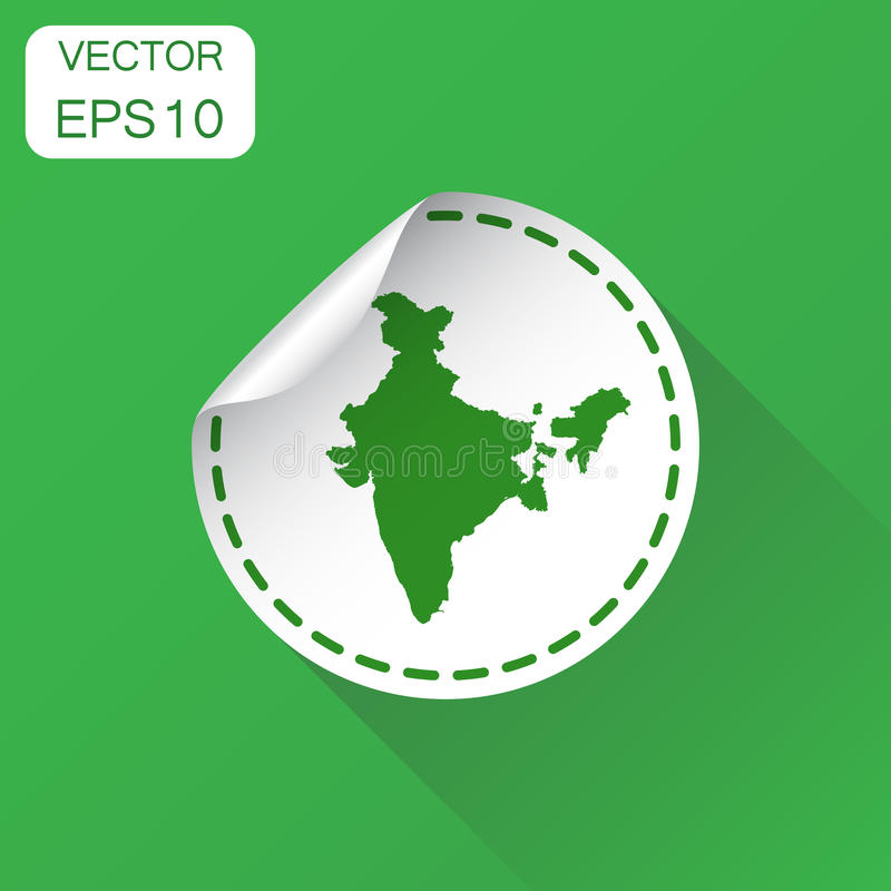 India sticker map icon. Business concept India label pictogram. royalty free illustration
