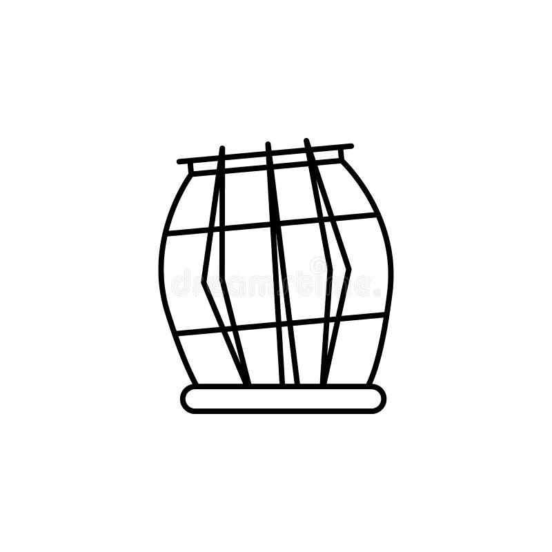 India, tablas icon. Element of India culture icon. Thin line icon for website design and development, app development. Premium vector illustration