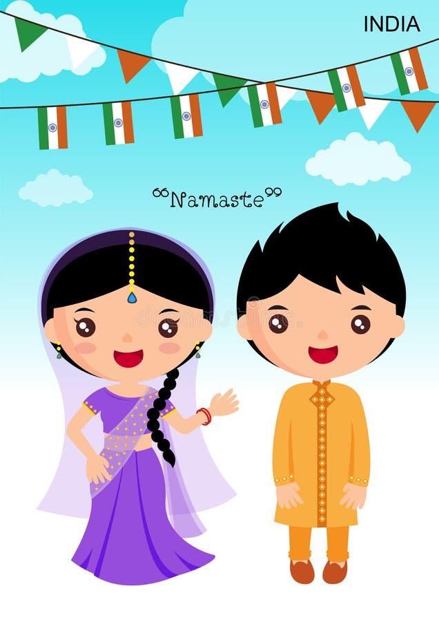 India tradycyjny kostium