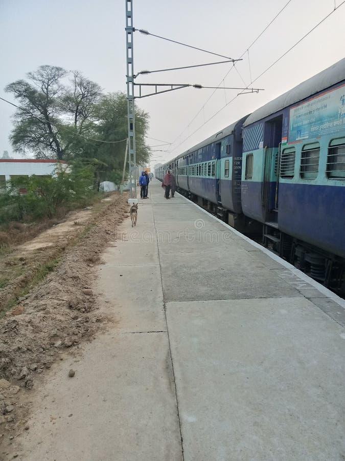 India train station in village haryana India. NVillage railway station in haryana hisar india royalty free stock image