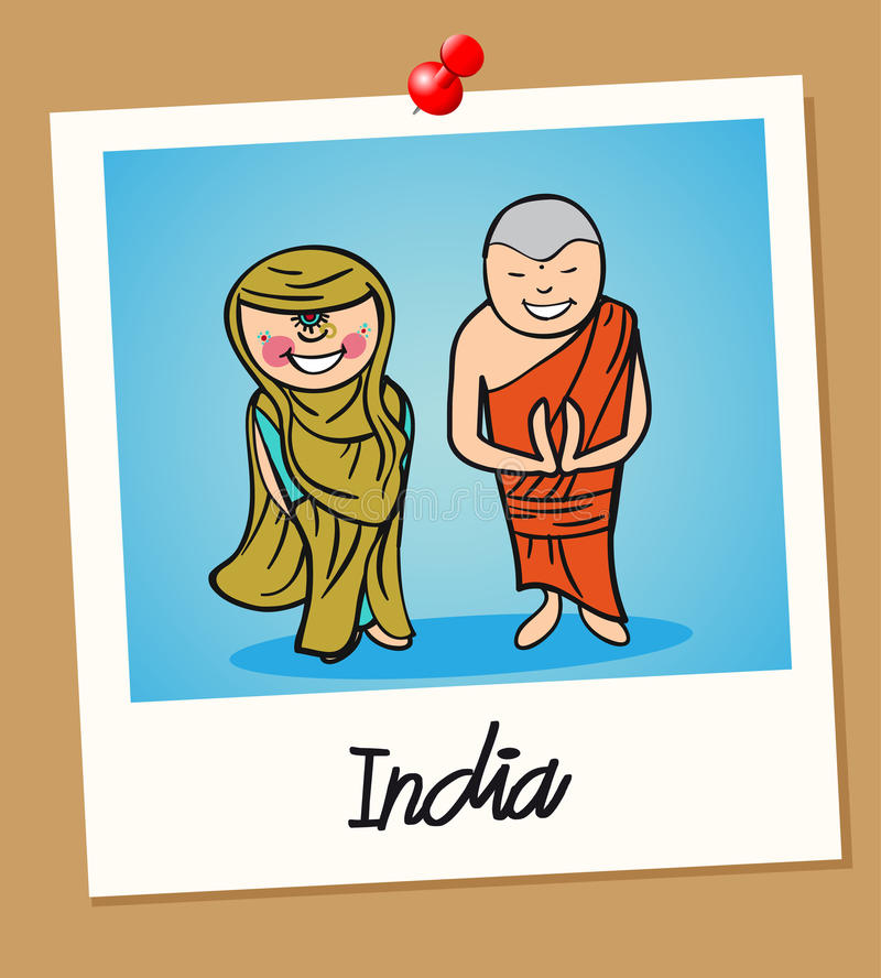 Download India Travel Polaroid People Stock Vector - Image: 32018272