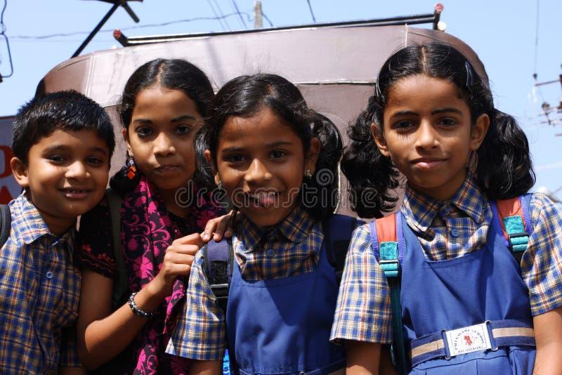 india trevlig skolungdom royaltyfria bilder