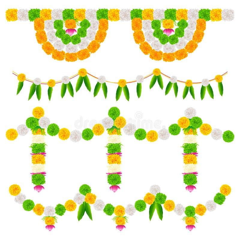 Download India Tricolor Flower Decoration Stock Illustration