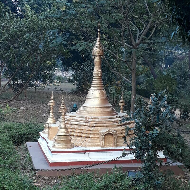 In India in Tripura at the Agartala situated the small statu of chaudda Debta temple of tribal religion. ahal. In India at the Agartala situated  the small stock photo