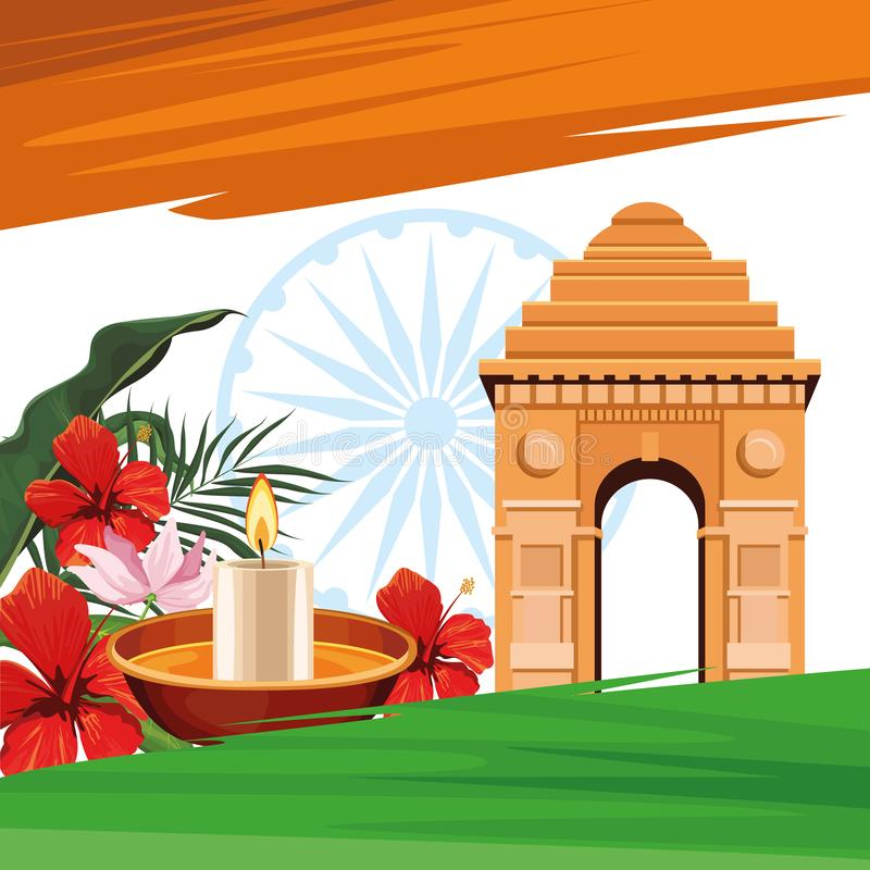 India turystyki i podr??y karta royalty ilustracja