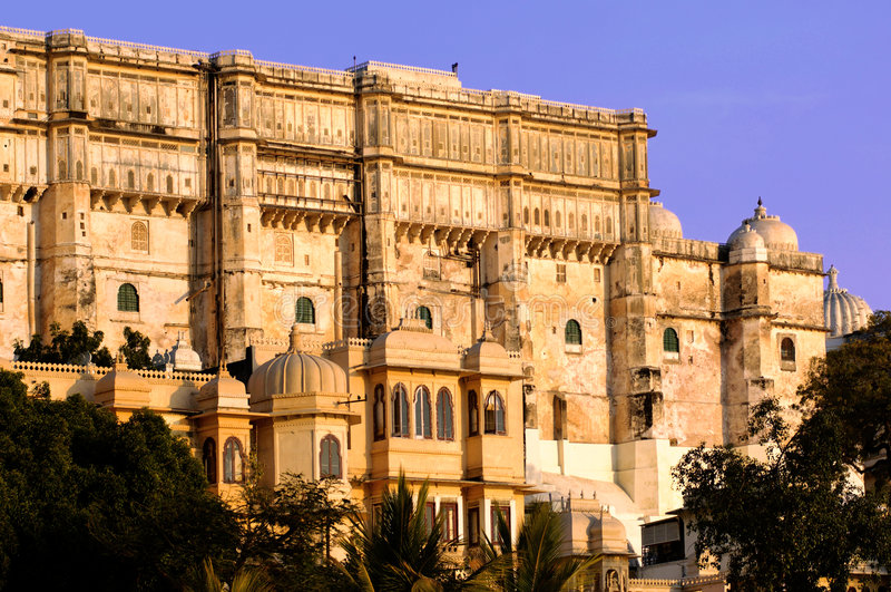 India, Udaipur: palácio da cidade foto de stock royalty free